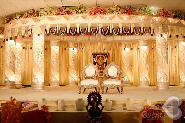 Colorful Flower Wedding Reception Manavarai Decoration